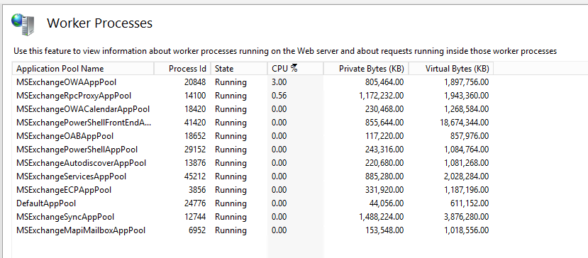 IIS Worker Processes