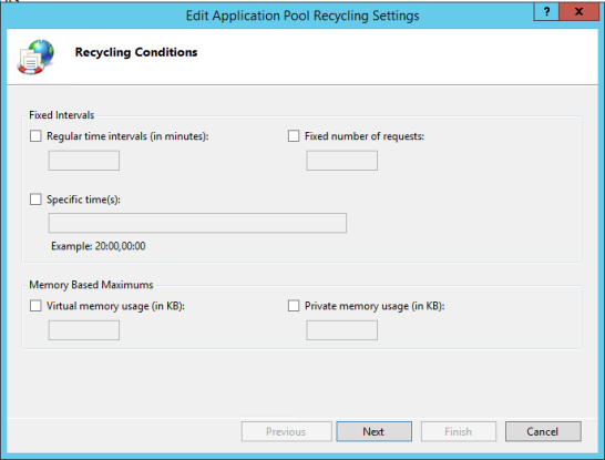 Recycling ISS Application Pool