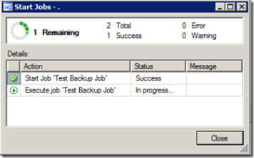 SQL Job Progress