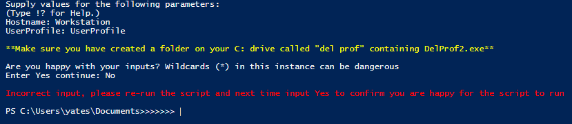 Delete Local User Profiles Remotely using a PowerShell