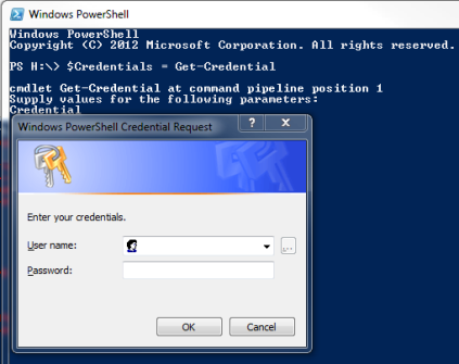 PowerShell Get-Cred