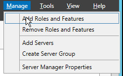 Windows Server add roles