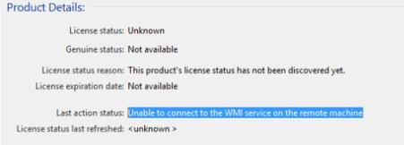 KMS WMI error