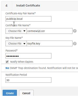 Install Certificate NetScaler