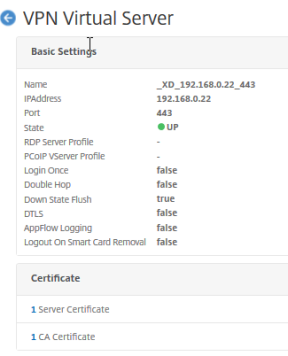 VPN Virtual Server