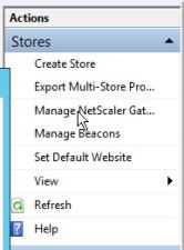 Storefront Manage NetScaler Gateway