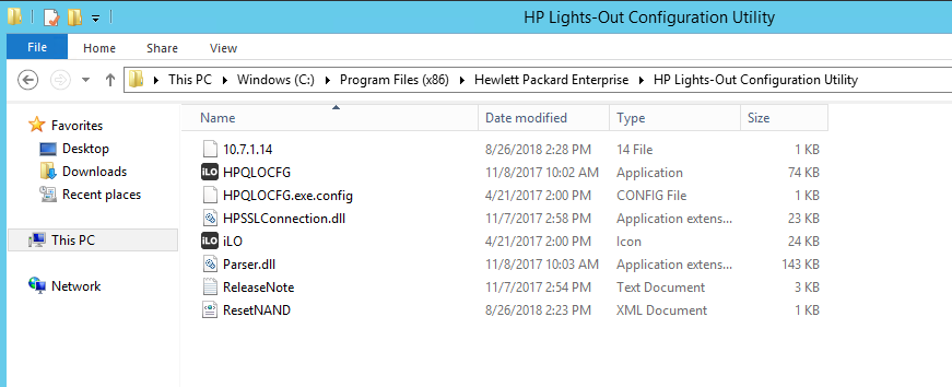 HP Lights-Out Configuration Utility
